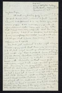 Letter from Ruth M. Ferry, Class of 1921, to Papa