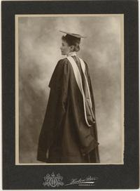 Mary Woolley, full-length graduation portrait
