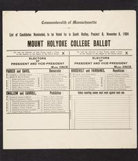 Mock United States Presidential election ballot