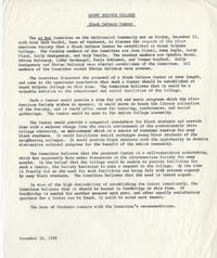 Summary report from Committee on the Multiracial Community, December 16, 1968