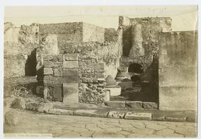 Excavated remains of House of the Bakers, Pompei, from the travels of Charlotte and Mary A. C. Ely, Class of 1861