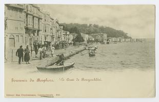 Postcard with Constantinople, Bosphorus, Buyukdéré Quay during the time of the Ely sisters' missionary work in Turkey