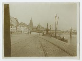 View of harbor at Frankfurt am Main, Germany, from the travels of Charlotte and Mary A. C. Ely, Class of 1861