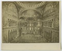 Interior of Hagia Sophia, Constantinople, during the time of the Ely sisters' missionary work in Turkey