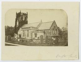 View of Hampton Church, from the travels of Charlotte and Mary A. C. Ely, Class of 1861