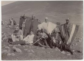 Kurdish shepherds, one Cossack, one Turk zaptich, and one Russian Armenian