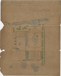 """Mt. Holyoke College Sketch for Location of Greenhouses, etc.,"" (plan of the Botanical Garden) by F. L. and J. C. Olmsted Landscape Architects"