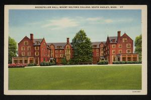 Rockefeller Hall (North and South) dormitory, exterior, view from College Street
