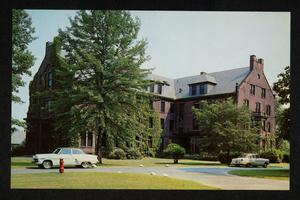 Mead Hall dormitory, exterior, view from northwest