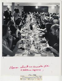 Students seated at a dinner