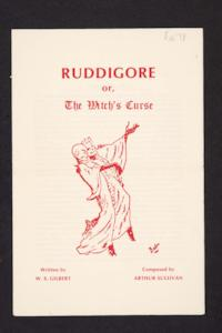 "Memorabilia from ""Ruddigore"" (""The Witch's Curse""), by Gilbert and Sullivan, performed in Chapin Auditorium during Winter Term"