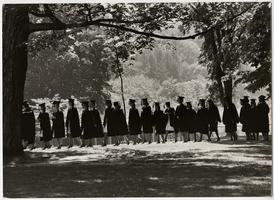 Seniors in line at Commencement (Class of 1965), photograph