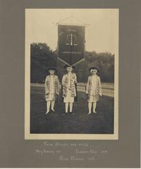 Color Bearer and Pages: Mary Cheney 1913, Eleanor Folz 1914, Hazel Munsell 1914