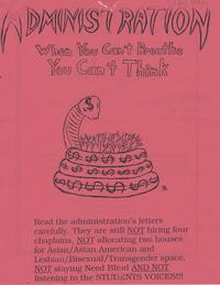 Anti-Administration Flyer, 1997