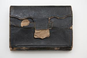 Pocket bible carried by Nathaniel Leighton during U.S. Civil War