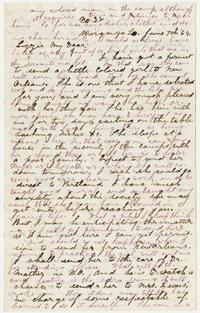 Correspondence between Nathaniel Leighton and Lizzie Leighton, June 7, 1864