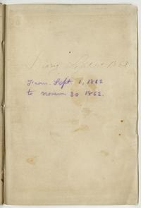 Nathaniel Leighton's Diary September 1st - November 30th, 1862