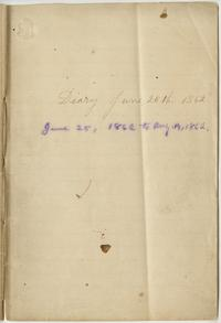 Nathaniel Leighton's Diary June 25th - August 14th, 1862