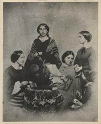 Helen French, Julia Ward, Emily Wilson, Mary Evans and Elizabeth Blanchard in 1861