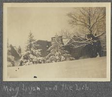 Mary Lyon and the Lib. (Mary Lyon Hall and the Library), from album of Doris A. Melchert, Class of 1911