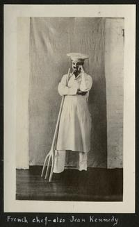 French chef - also Jean Kennedy, page from album of Helen Smith, Class of 1925; depicts Jean Kennedy, Class of 1923