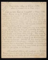 Notes from a class-letter of the Class of 1871, compiled by Hettie Dodd Carter '71, class president