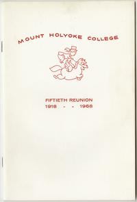 Class letter of the Class of 1918, for their 50th reunion, front cover with pegasus emblem