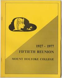 Class letter of the Class of 1927, for their 50th reunion, front cover with sphinx emblem