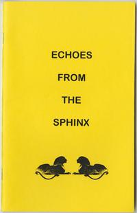 Echoes from the Sphinx, class letter of the Class of 1931, front cover with sphinx emblems