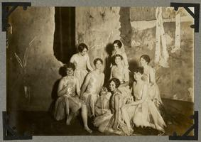 Eight students in a dance performance; page from an album of the Class of 1932