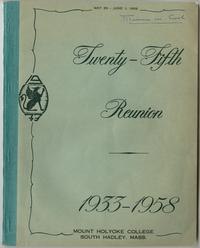 Class of 1933, 25th reunion booklet, front cover