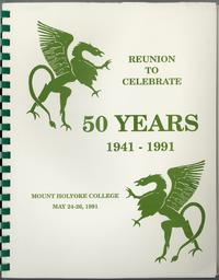 Class of 1941, class letters, 50th reunion, front cover