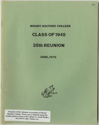 Class of 1945, 25th reunion booklet, front cover