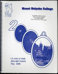 Class of 1960, class letters, 40th reunion, front cover