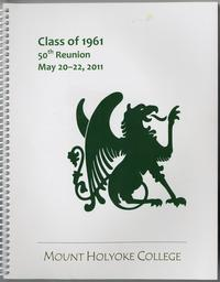 Class of 1961, class letters, 50th reunion, front cover