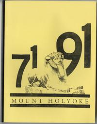 Class of 1971, 20th reunion booklet, front cover