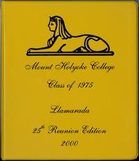 Class of 1975, class letters, 25th reunion, front cover