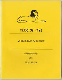 Class of 1983, 20th reunion booklet, front cover
