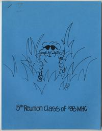 Class of 1988, 5th reunion booklet, front cover