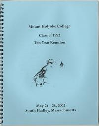 Class of 1992, 10th reunion booklet, front cover