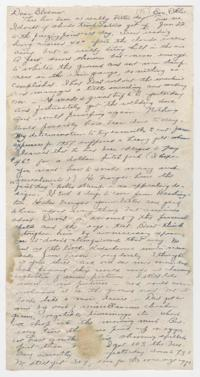 Letter from Caroline Henderson to Eleanor Henderson