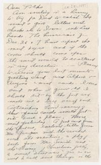 Letter from Caroline Henderson to Eleanor Henderson, August Grandstaff, and David Grandstaff