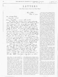 "The American Chamber of Commerce Journal: ""Letters: Our Own Letter from the Dust Bowl"""