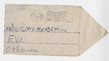 Valentine cards and envelope from David Grandstaff to Caroline and W. E. Henderson