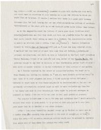 Extract from letter from Caroline Henderson to Rose Alden, typed by Rose and sent to Mount Holyoke