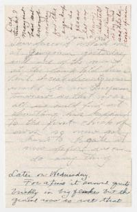 Letter fragment from Caroline and W. E. Henderson to Eleanor Henderson