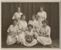 Members of the Class of 1912 basketball team
