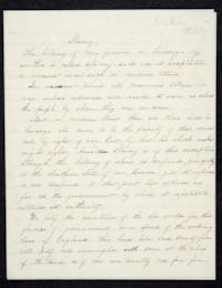 Composition about slavery by Josephine M. Kingsley, Class of 1857