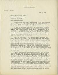 Letter from Prof. Charlotte Haywood to President Theodore H. Wilson, University of Baltimore
