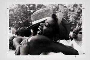 A happy embrace during Commencement Weekend for the Class of 1989